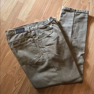LL Bean Men's Flannel Lined Brown Jeans 33x29